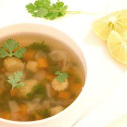 Lemonm Coriander Vegetable Soup